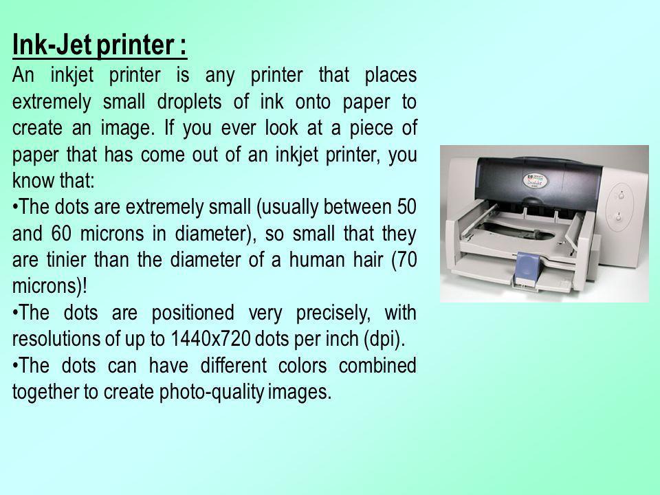 Ink-Jet printer :