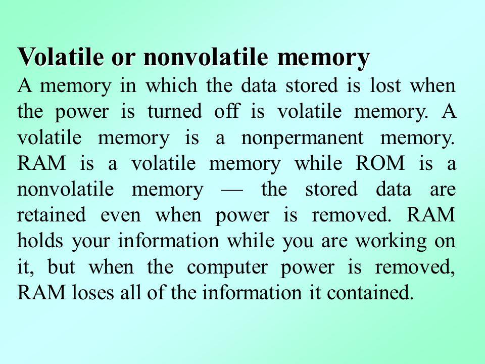 Volatile or nonvolatile memory