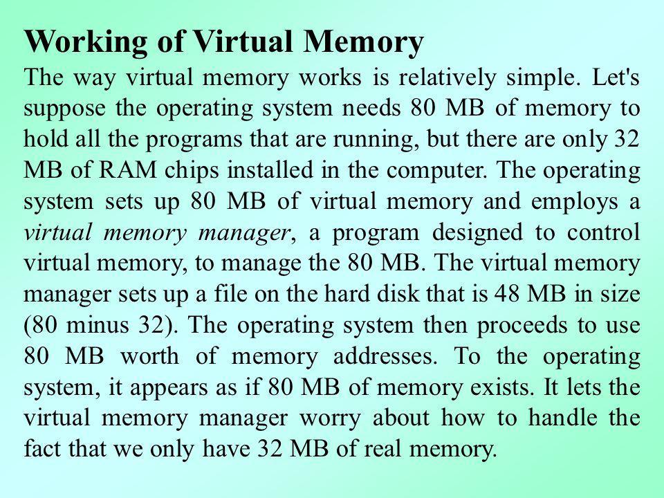 Working of Virtual Memory