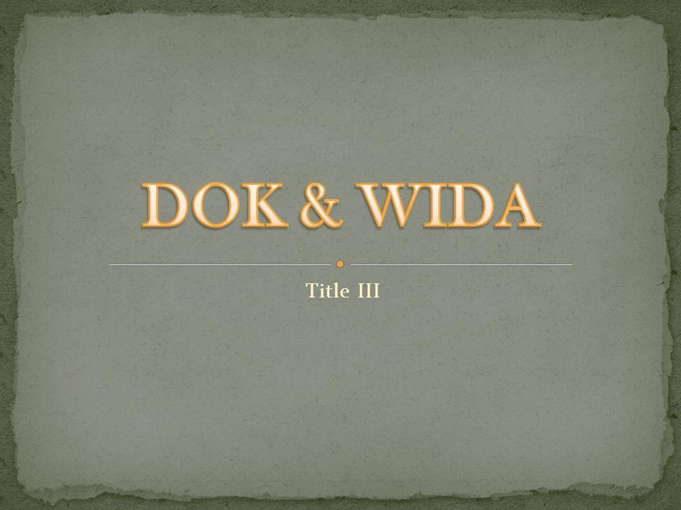 DOK & WIDA Title III