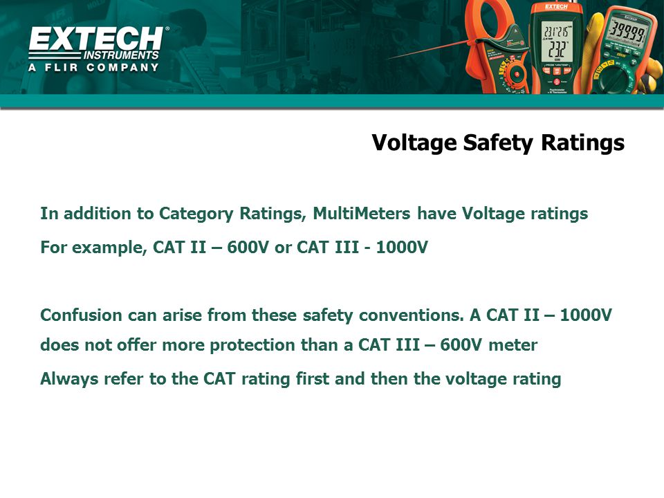 Voltage Safety Ratings