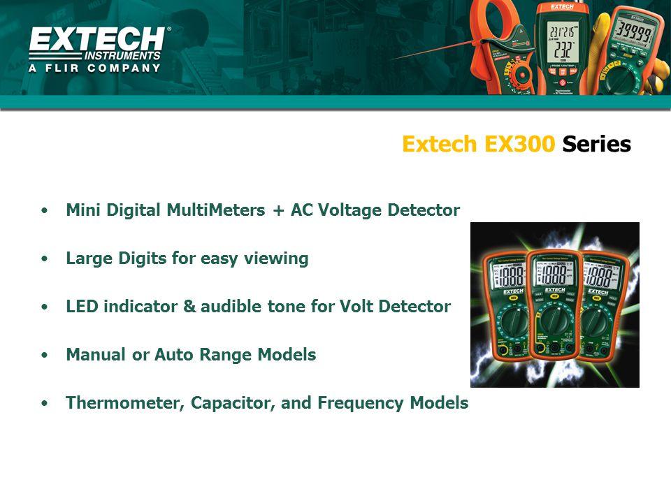 Extech EX300 Series Mini Digital MultiMeters + AC Voltage Detector