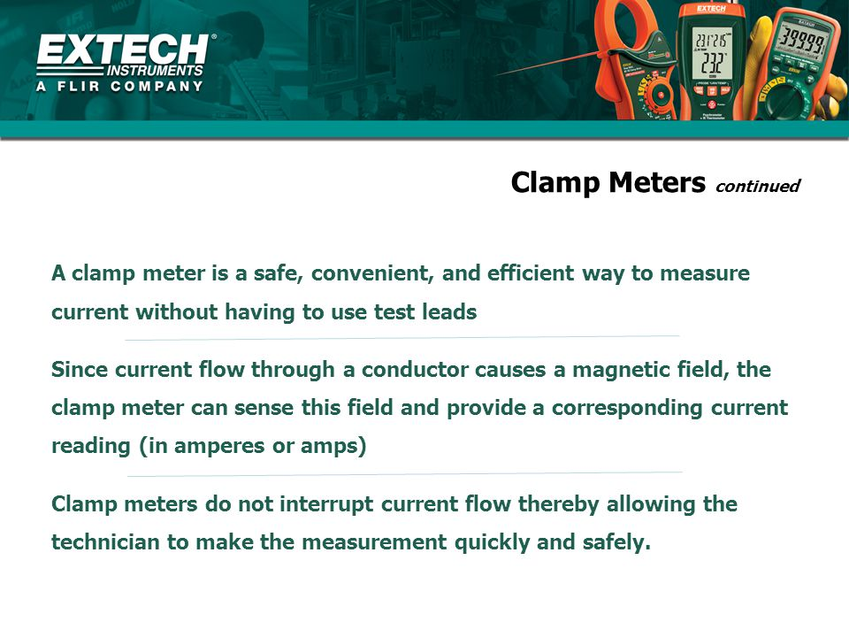 Clamp Meters continued