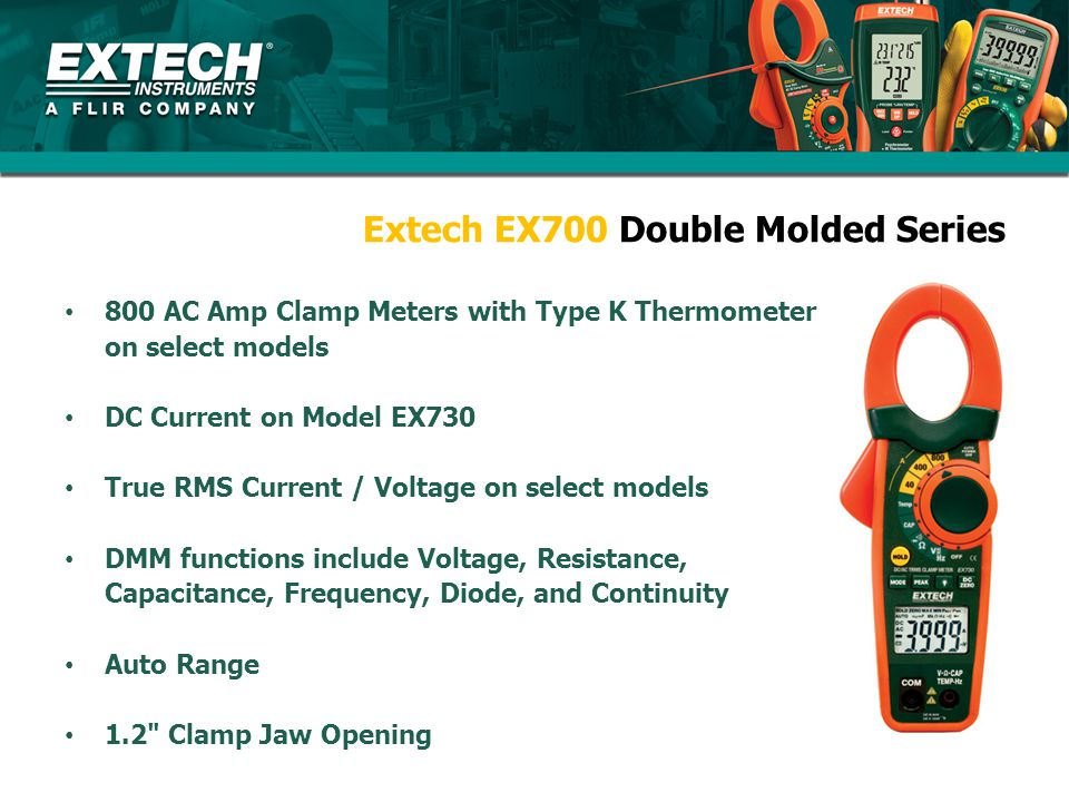 Extech EX700 Double Molded Series