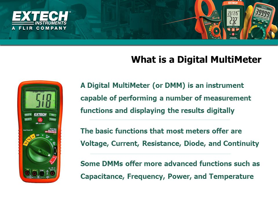 What is a Digital MultiMeter