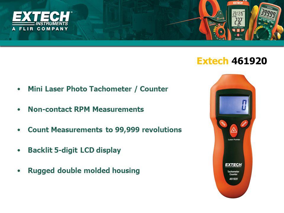 Extech 461920 Mini Laser Photo Tachometer / Counter