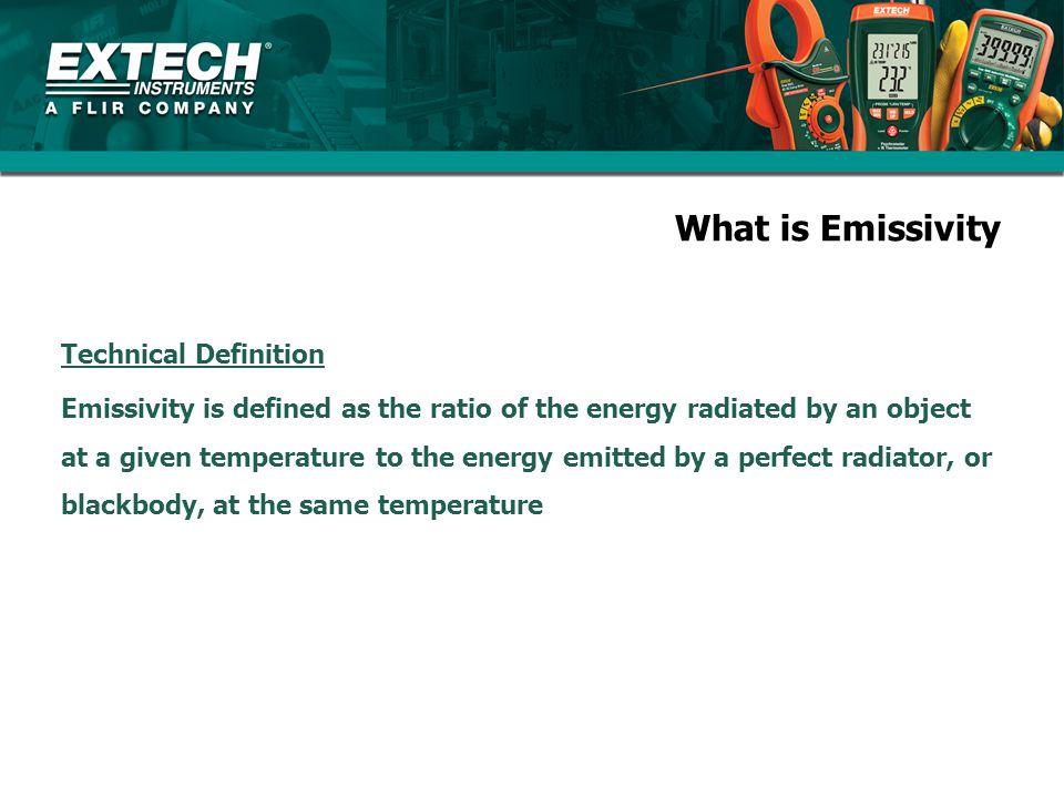 What is Emissivity