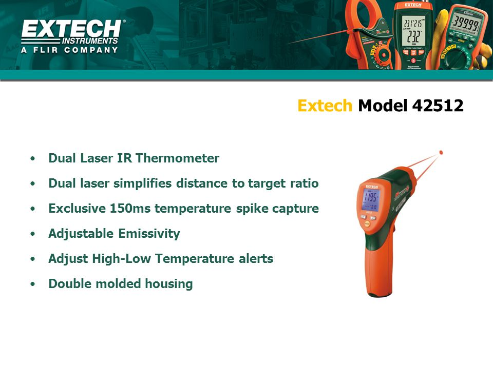 Extech Model 42512 Dual Laser IR Thermometer