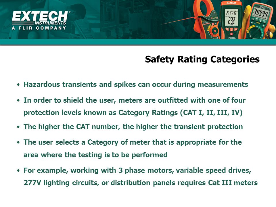 Safety Rating Categories