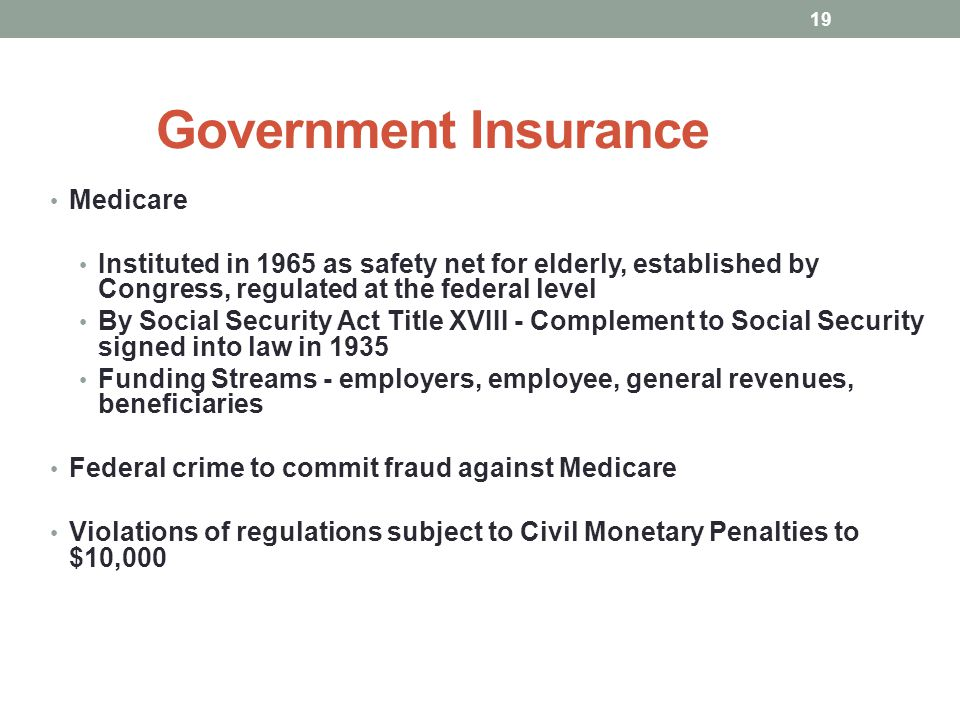 Government Insurance Medicare