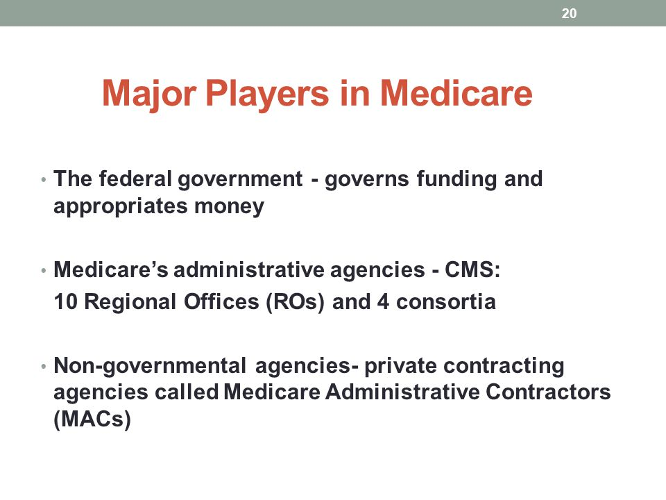 Major Players in Medicare