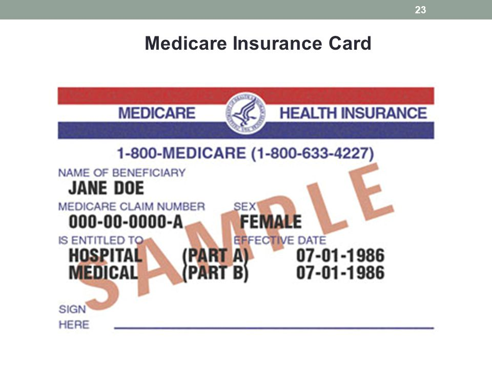 Medicare Insurance Card