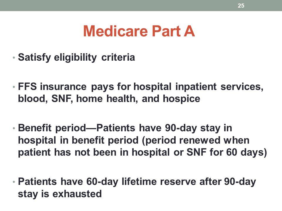 Medicare Part A Satisfy eligibility criteria
