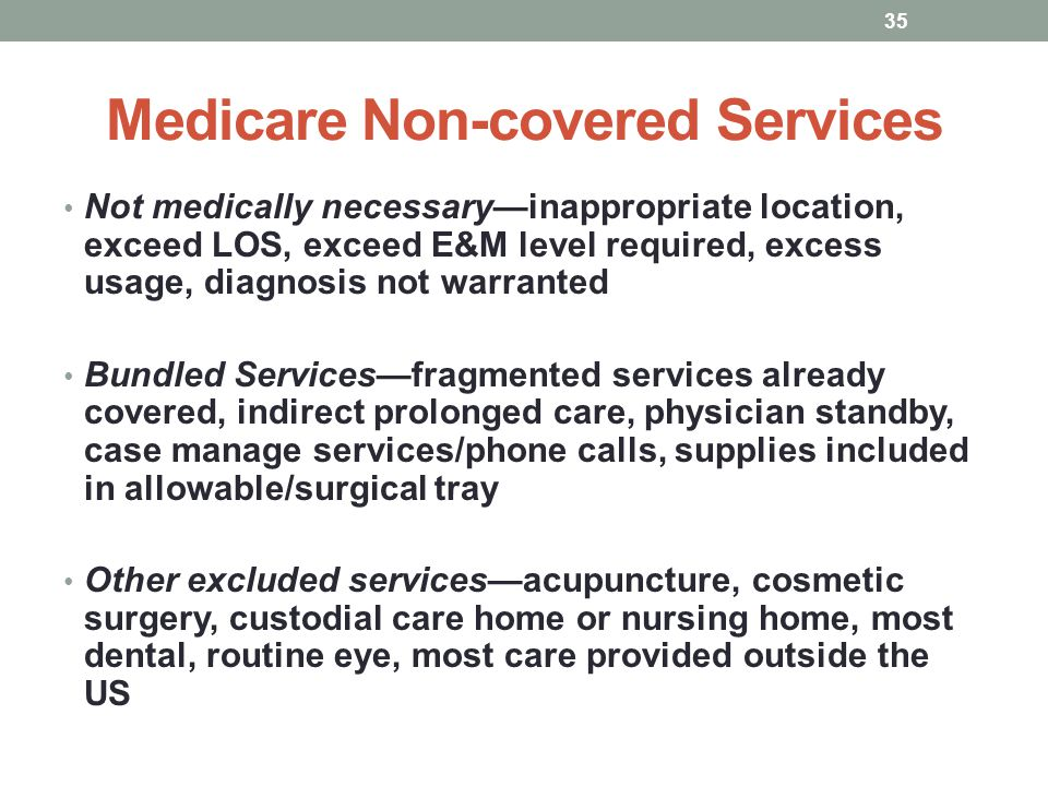 Medicare Non-covered Services