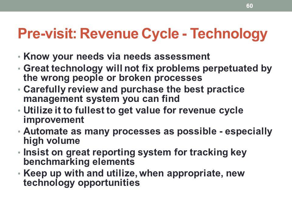 Pre-visit: Revenue Cycle - Technology