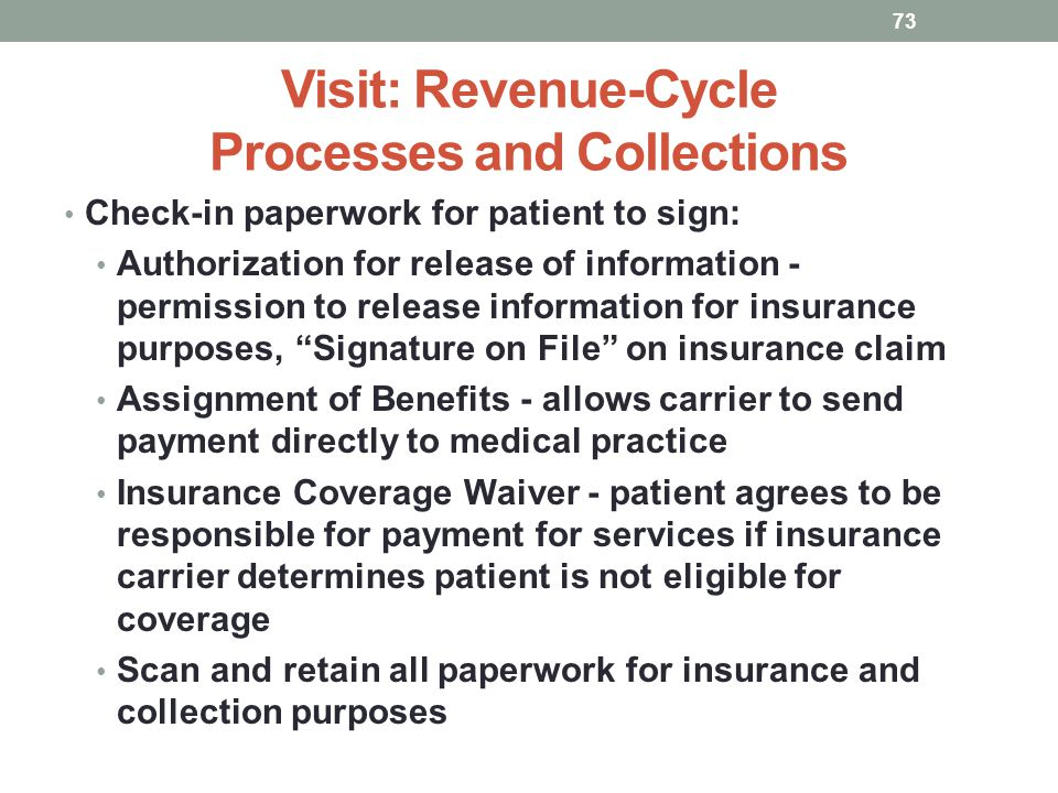 Visit: Revenue-Cycle Processes and Collections