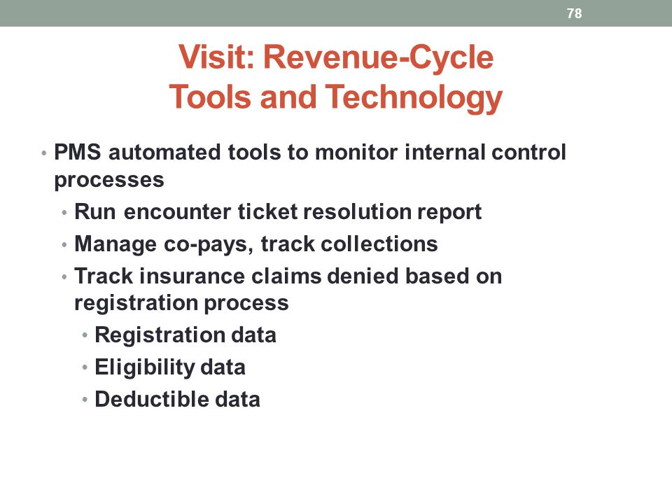 Visit: Revenue-Cycle Tools and Technology