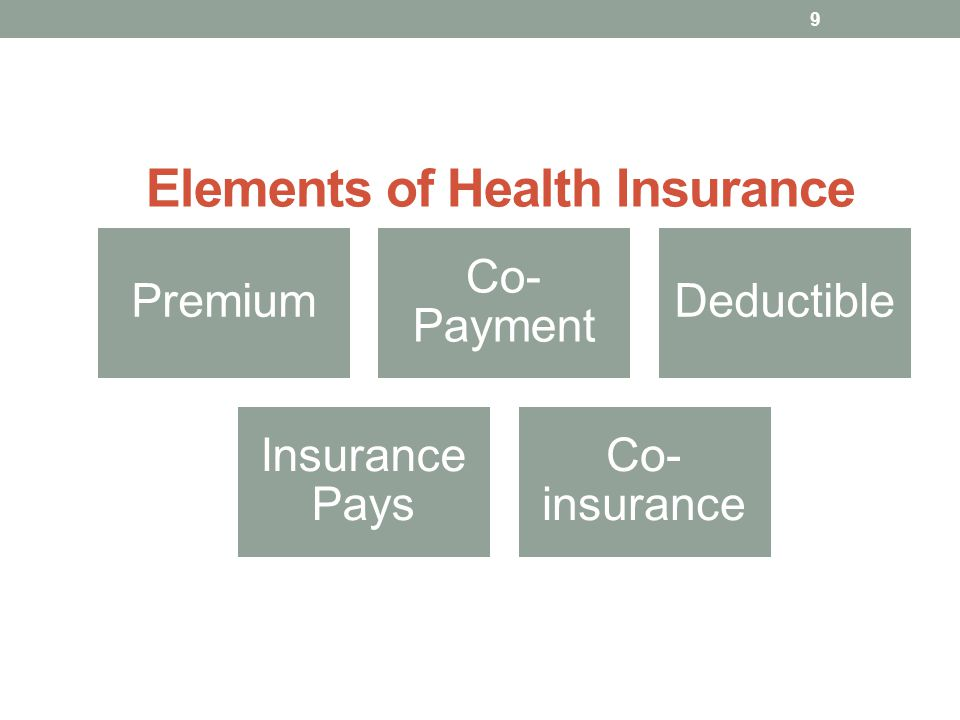 Elements of Health Insurance