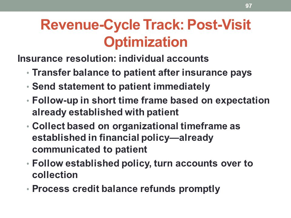 Revenue-Cycle Track: Post-Visit Optimization