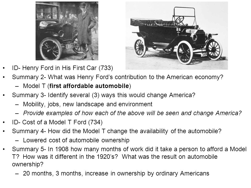 ID- Henry Ford in His First Car (733)