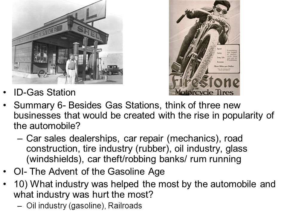 OI- The Advent of the Gasoline Age