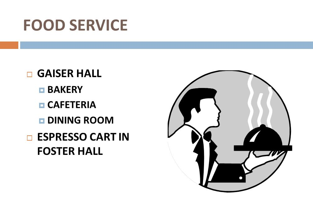 FOOD SERVICE GAISER HALL ESPRESSO CART IN FOSTER HALL BAKERY CAFETERIA