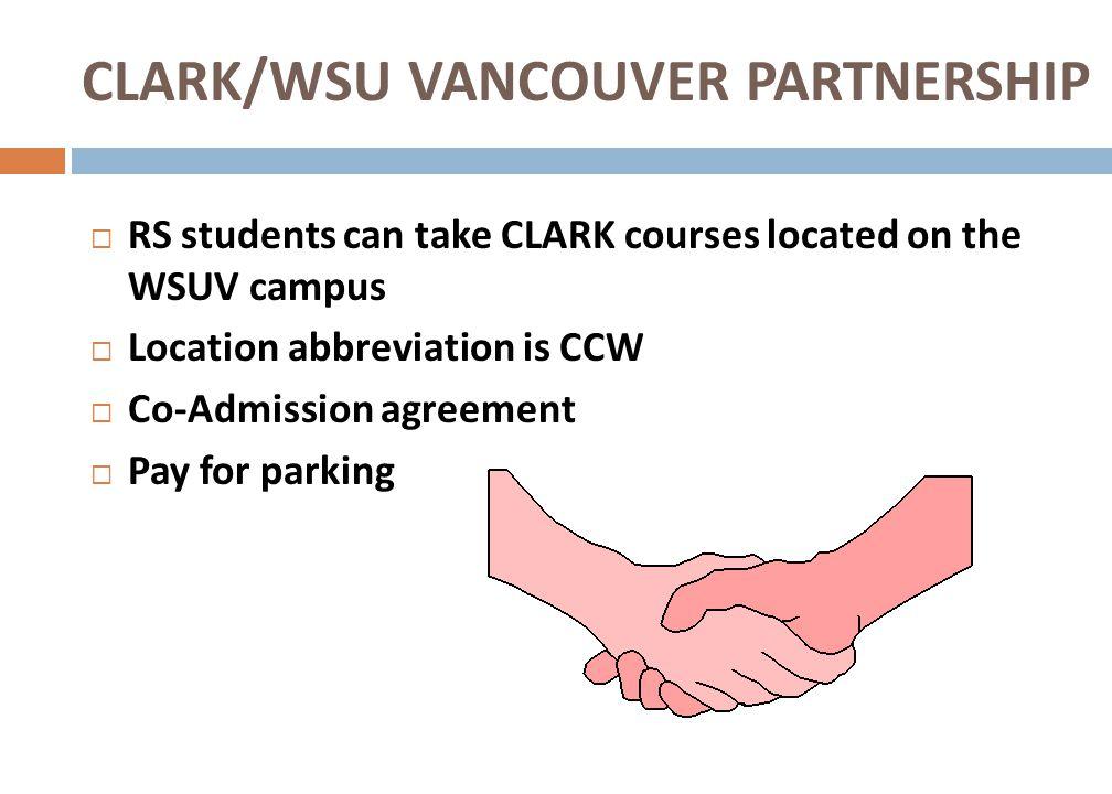 CLARK/WSU VANCOUVER PARTNERSHIP