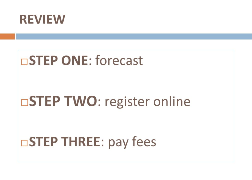 STEP TWO: register online