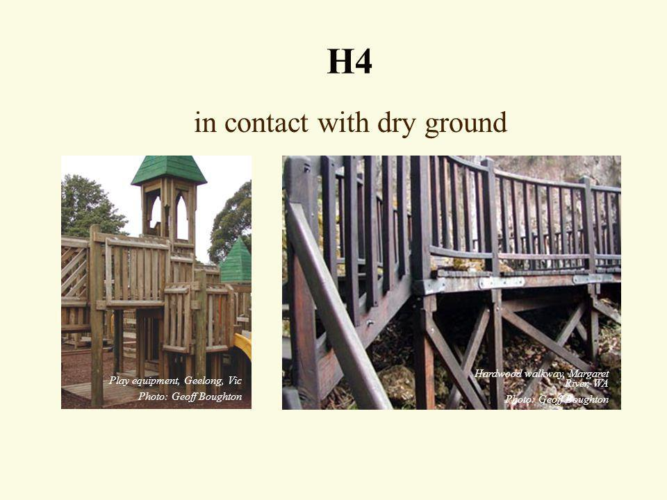 in contact with dry ground