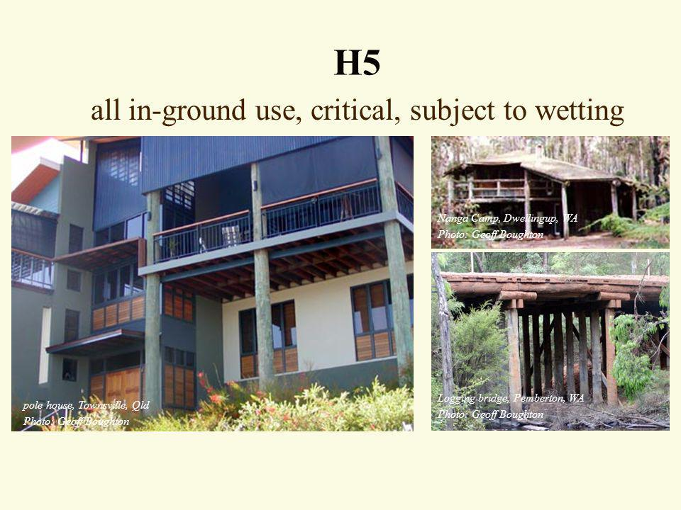 all in-ground use, critical, subject to wetting