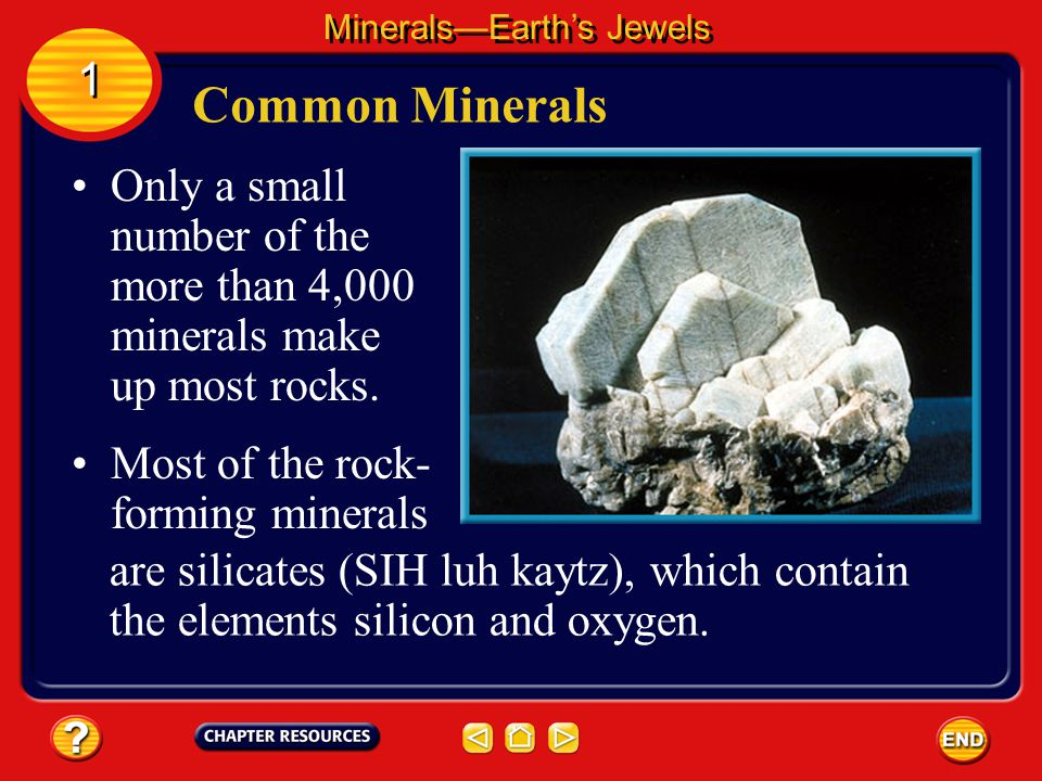 Minerals—Earth's Jewels