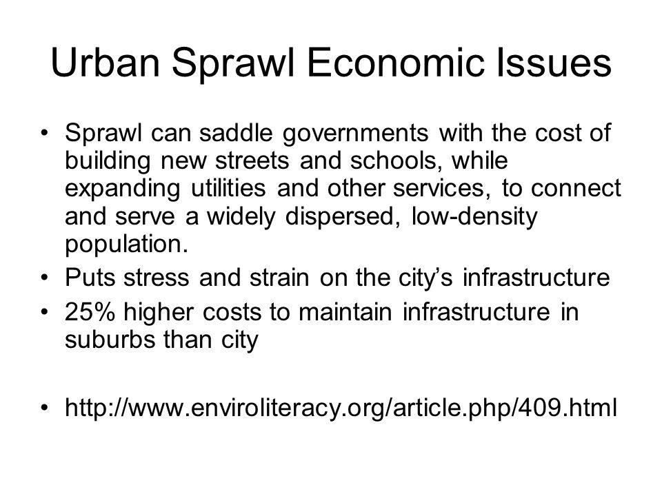 Urban Sprawl Economic Issues