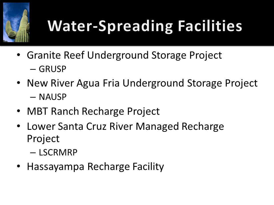 Water-Spreading Facilities