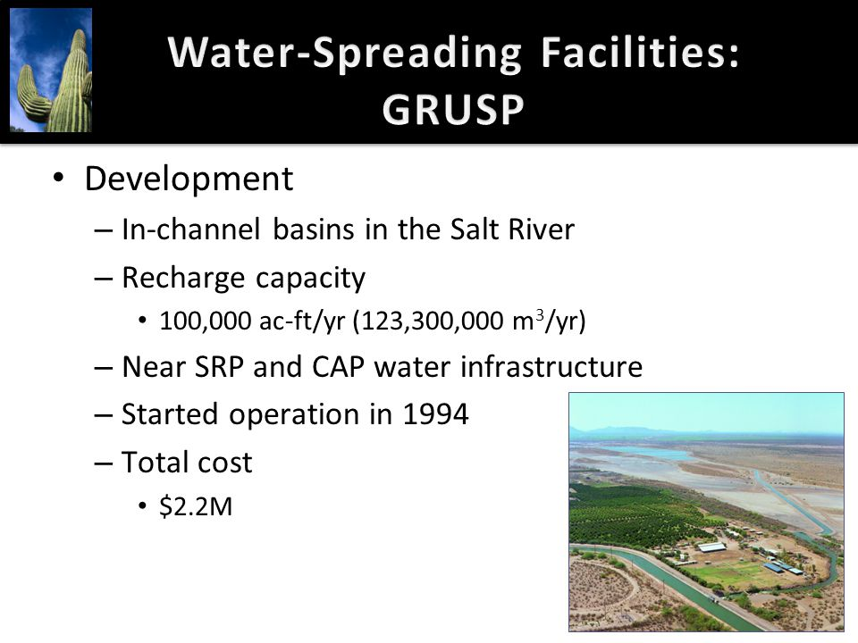 Water-Spreading Facilities: GRUSP