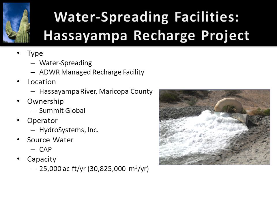 Water-Spreading Facilities: Hassayampa Recharge Project