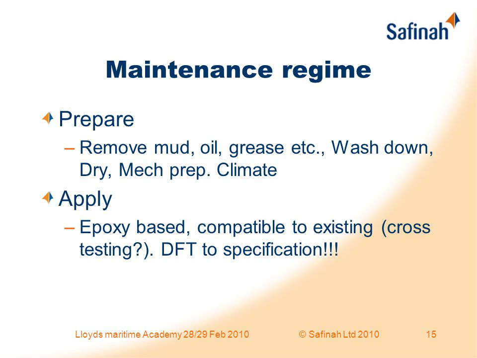 Lloyds maritime Academy 28/29 Feb 2010 © Safinah Ltd 2010