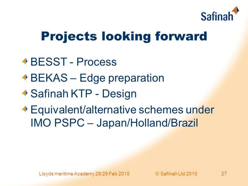 Projects looking forward