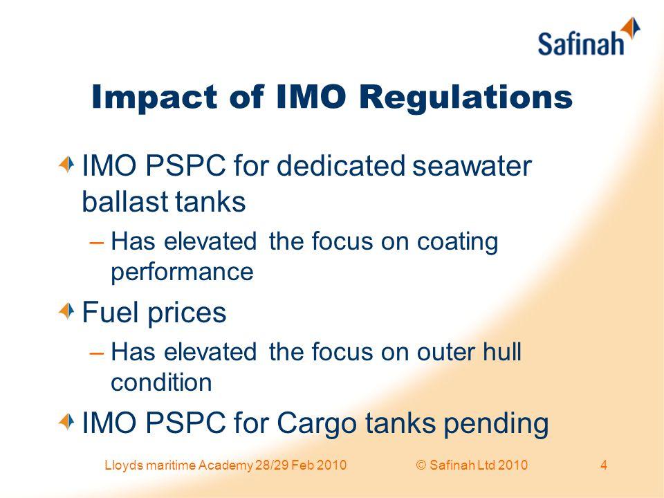 Impact of IMO Regulations