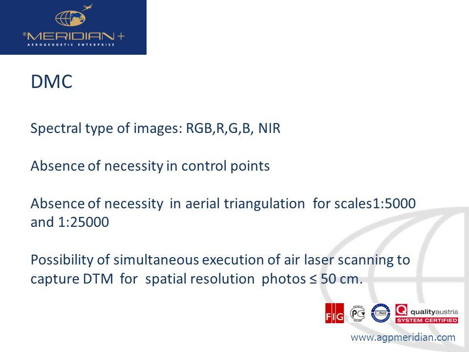 DMC Spectral type of images: RGB,R,G,B, NIR