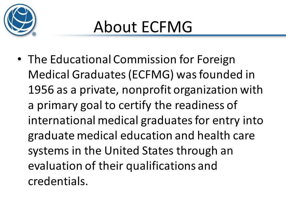 About ECFMG
