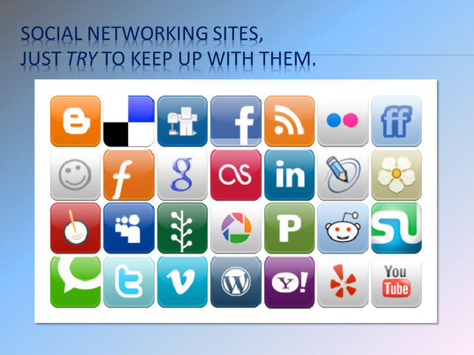 Social networking sites, just try to keep up with them.