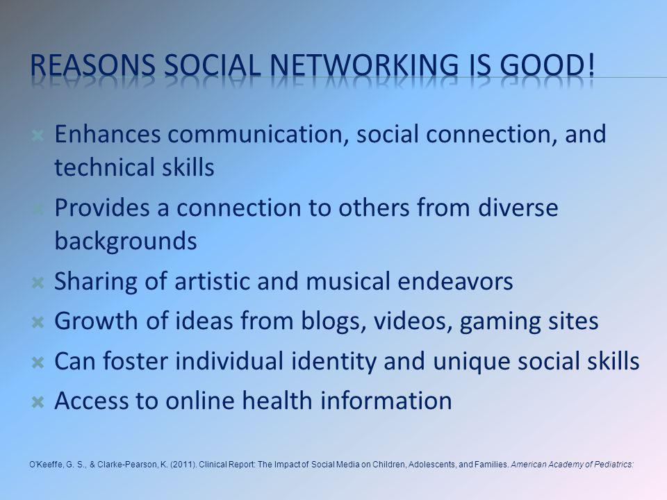 Reasons social networking is good!