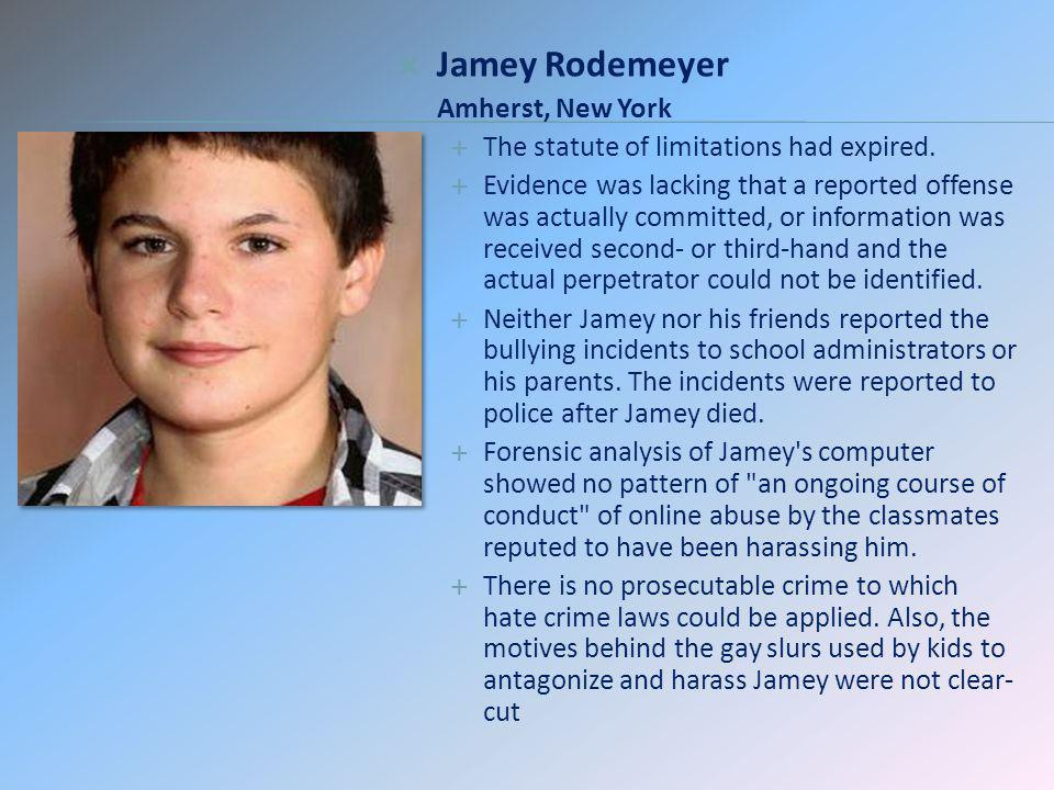 Jamey Rodemeyer Amherst, New York