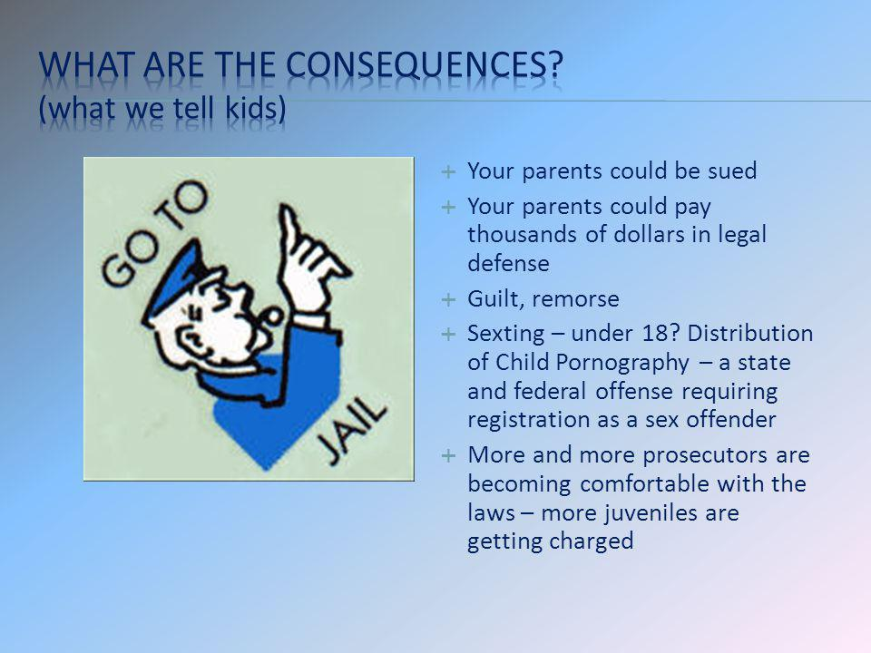 What are the consequences (what we tell kids)