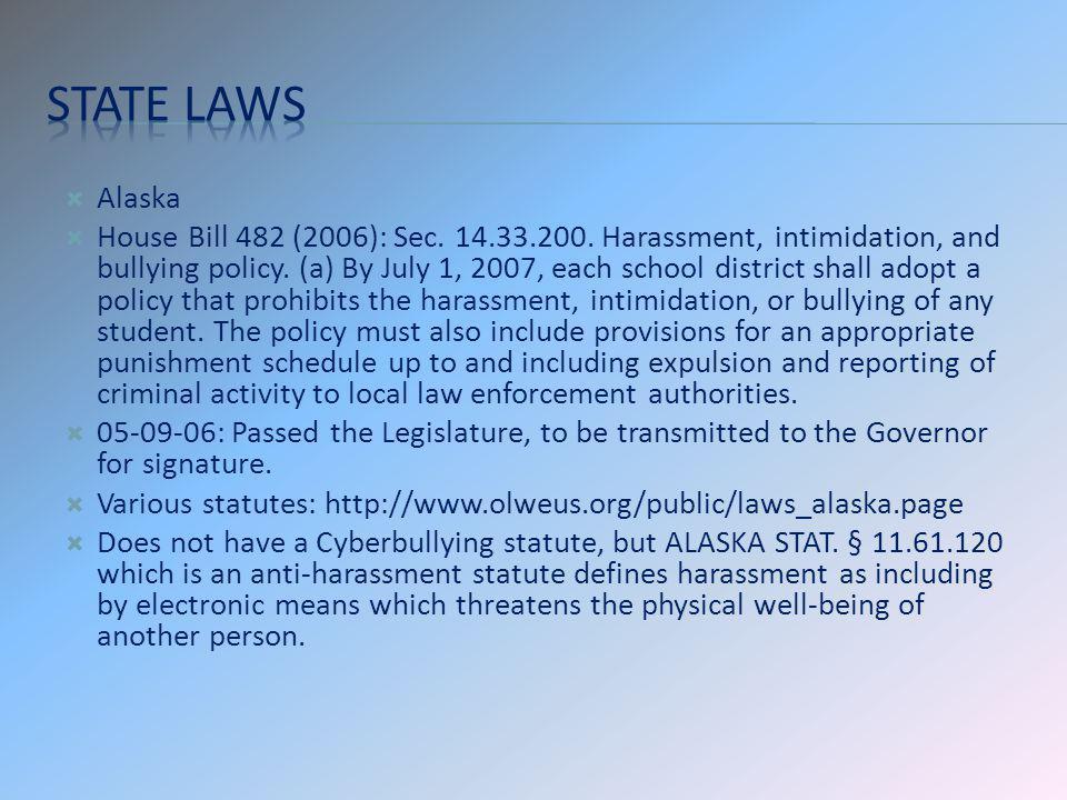 State laws Alaska.
