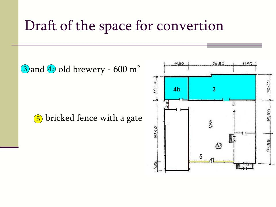 Draft of the space for convertion