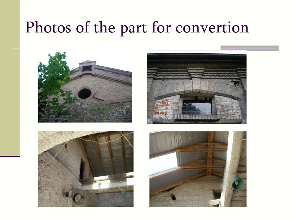 Photos of the part for convertion