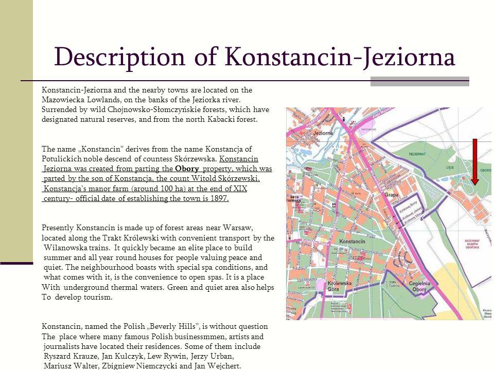 Description of Konstancin-Jeziorna