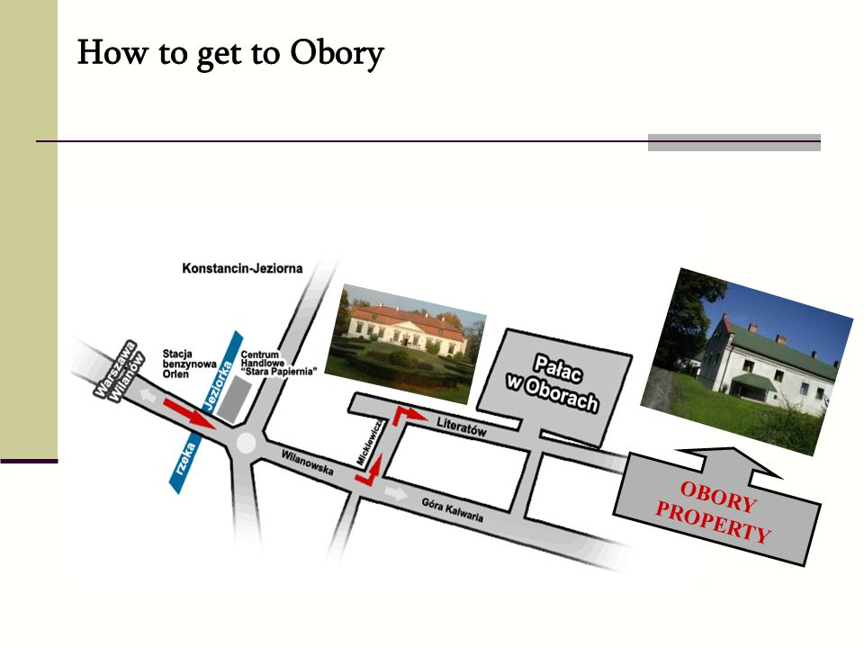 How to get to Obory OBORY PROPERTY