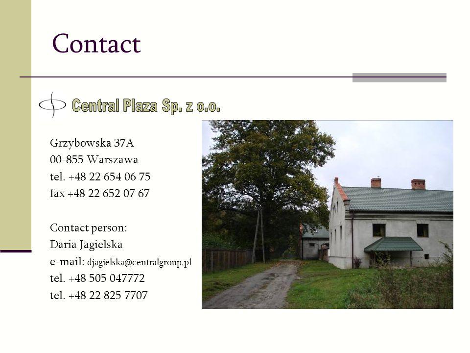 Contact Central Plaza Sp. z o.o. Grzybowska 37A 00-855 Warszawa